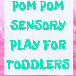 pom pom sensory play for toddlers www.thesehungrykids.com