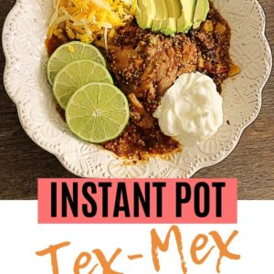 This recipe for Instant Pot Tex-Mex Chicken and Quinoa is an easy dump and start recipe your family will love! It's an easy weeknight meal, or serve it as an easy party meal.