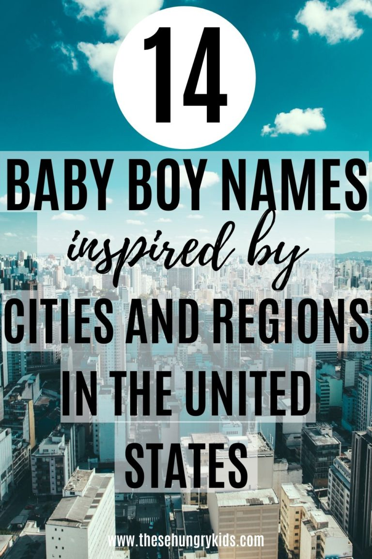 Looking for unique and uncommon baby boy names? Check out this list of 14 baby boy names inspired by cities and regions in the United States of America! You're sure to find a strong boy name you like among this list – it's a different way to give your baby's name meaning! #babynames #babyboynames