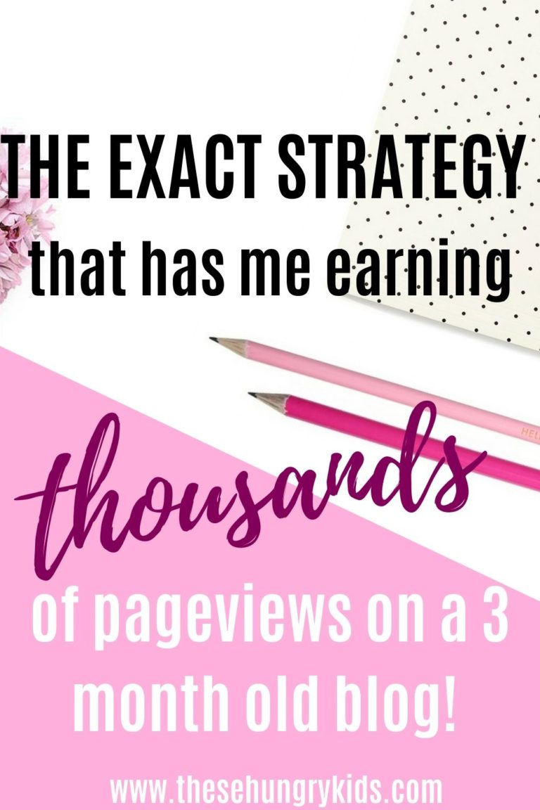 The strategy that had me earning 1000s of page views within a few months of blogging! You can explode your blog's traffic with these tips.