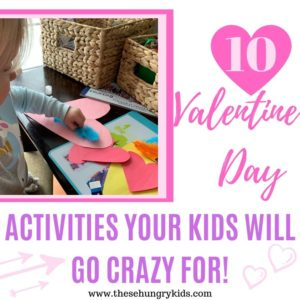Get ready to have fun with these Valentine's Day activities for kids! From Valentine's Day coloring pages, to homemade cards, sensory bins, and more - everything you need is right here on this list! #valentinesday #kidsactivities #preschoolactivities